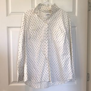 Lnold navy button up